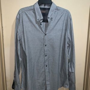 BEN SHERMAN SHIRT MEN'S SZ L COTTON GRAY